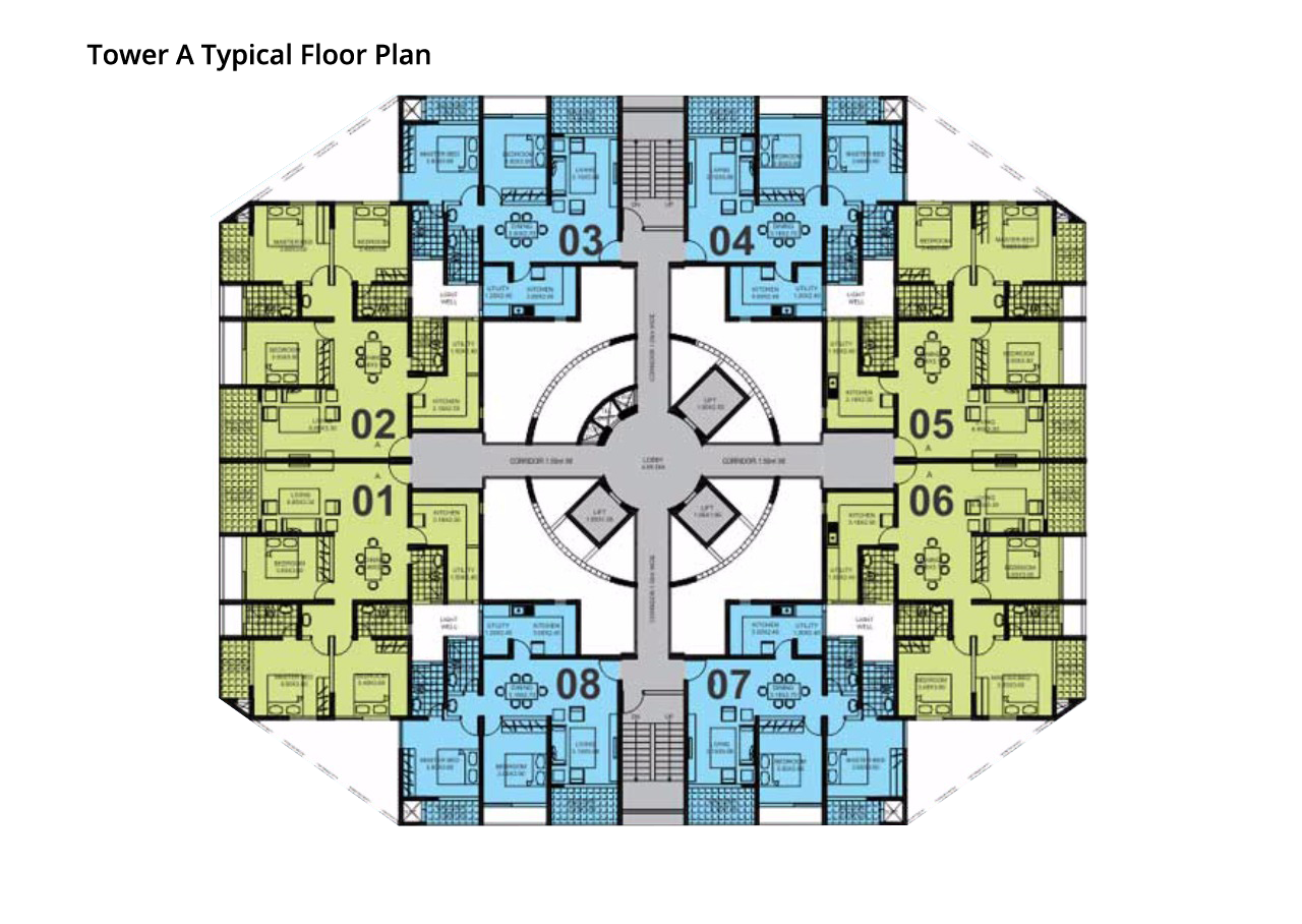 Northernsky City Tower A Typical Floor Plan