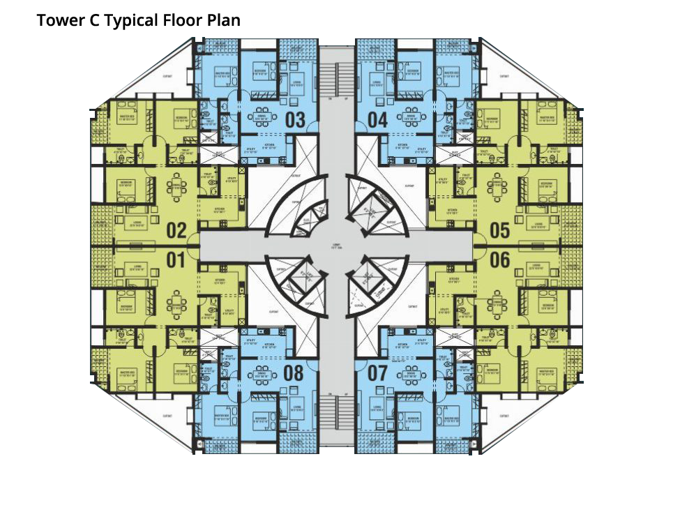Northernsky City Tower C Typical Floor Plan